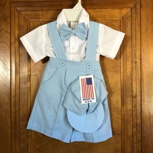 Other - NWT overalls set with matching hat